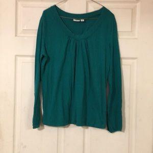 Long sleeve green shirt